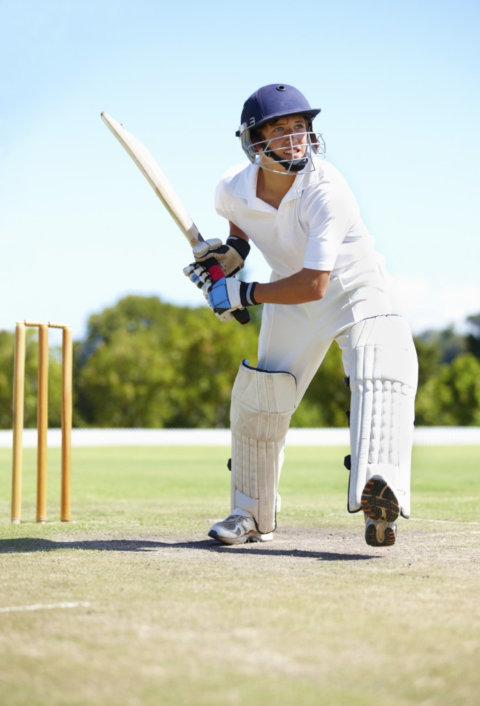 Shot of a young cricket player outdoors