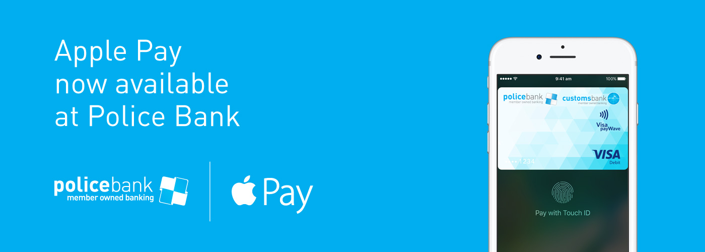 pay with your police bank visa debit or credit card using apple pay - Visa Payroll Card